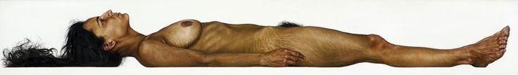 S. H., deutsch, 24 Jahre / Juni 2003 – August 2004 / Maßstab 1:1 / Öl/Holz, 29,2 x 200 cm / Sammlung Fruhstorfer, München