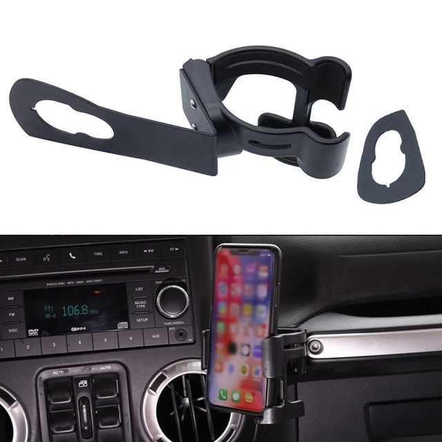 Newest Multi Function Water Cup Bottle Car Mobile Phone Gps Cell Mount Holder Stand For Jeep Wrangler Jk 2007 17 Bla Jeep Wrangler Jk Jeep Wrangler Wrangler Jk