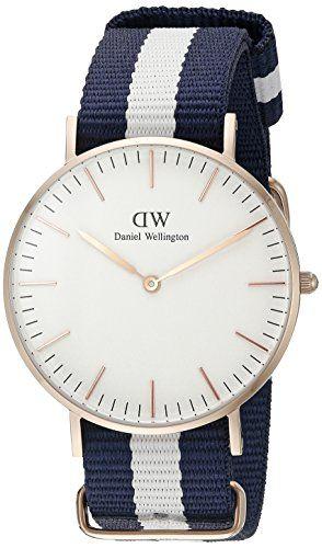 Daniel Wellington Damen-Armbanduhr Glasgow Analog Quarz Nylon 0503DW - http://uhr.haus/daniel-wellington/blanco-daniel-wellington-uhr-classic-glasgow-wei