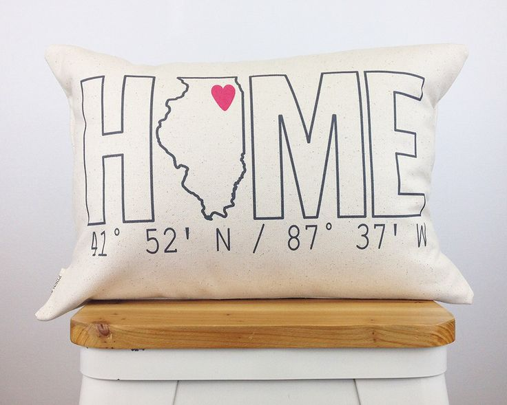 Home Coordinates State Pillow, Housewarming Gift, Home Pillow, Custom Pillow, Personalized Gift, Graduation Gift, Dorm Decor by FinchandCotter on Etsy https://www.etsy.com/listing/220693307/home-coordinates-state-pillow