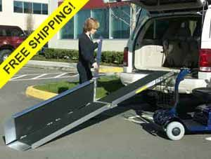 Trifold Portable Wheelchair Ramps for Vans or Stairs