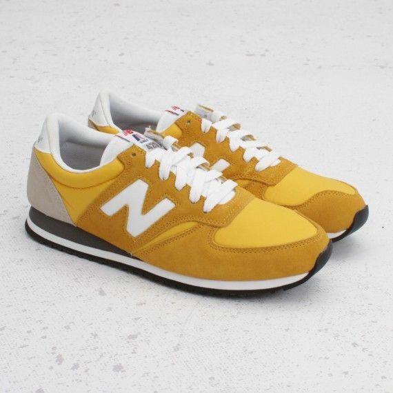 K Way X New Balance 420 Yellow Women Sport Sneakers Sneakers Men Sneakers