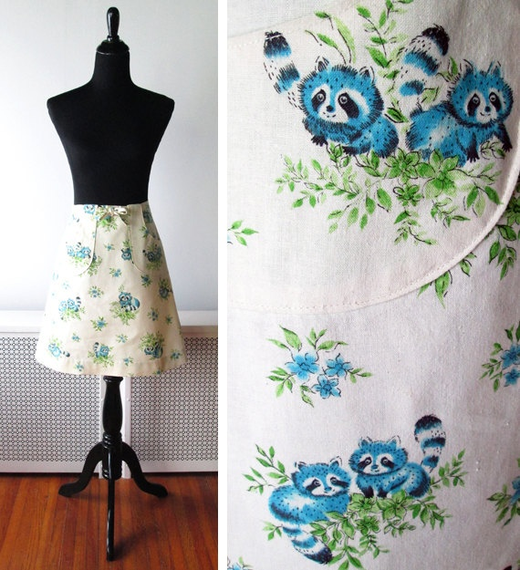1970s Novelty Wrap Skirt: Wrap Skirts, Novelty Wraps, 1970S Wraps, Wraps Skirts