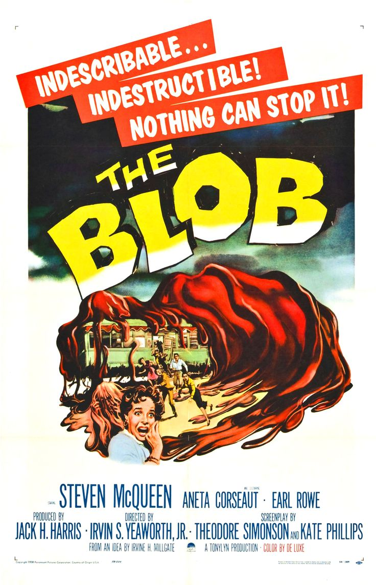 The Blob ~ my husband and I saw this movie at our elementary school, we will never forget it.