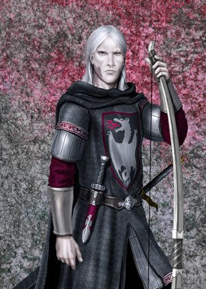 """by Amok©Lord Brynden Rivers, called """"Lord Bloodraven"""", was a legitimized Great Bastard of Aegon IV Targaryen and Melissa Blackwood, his sixth mistress. His personal arms were a white dragon with red eyes breathing red flame on a black field."""