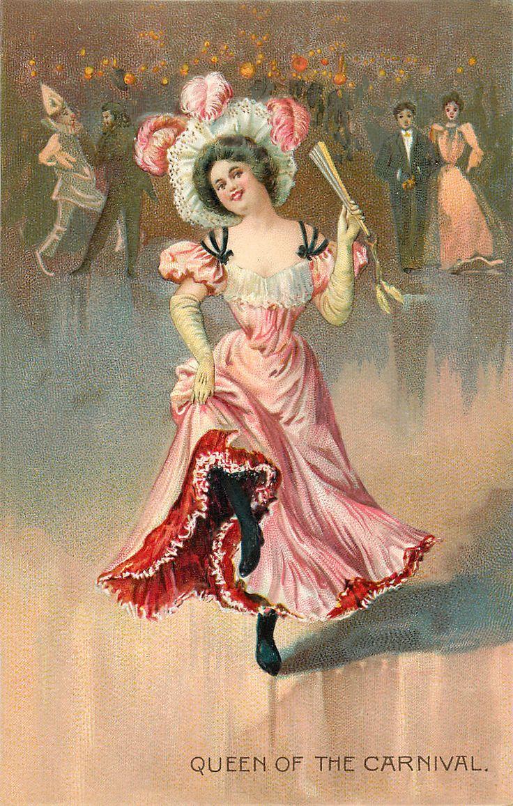 Открытка старый цирк, днем строителя женщине