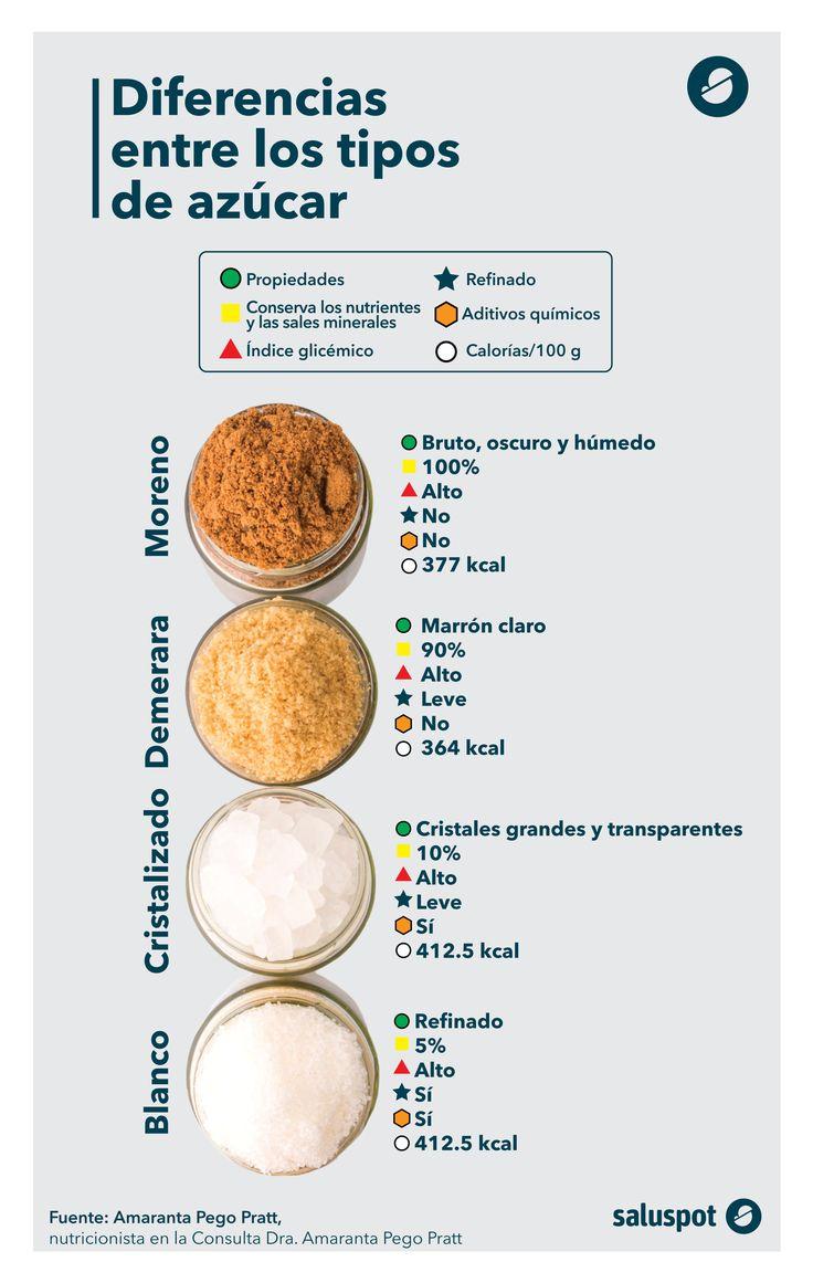 Tipos de azúcar. Infografía