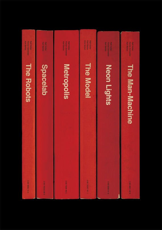 Kraftwerk 'The Man-Machine' Album As Books Poster Print