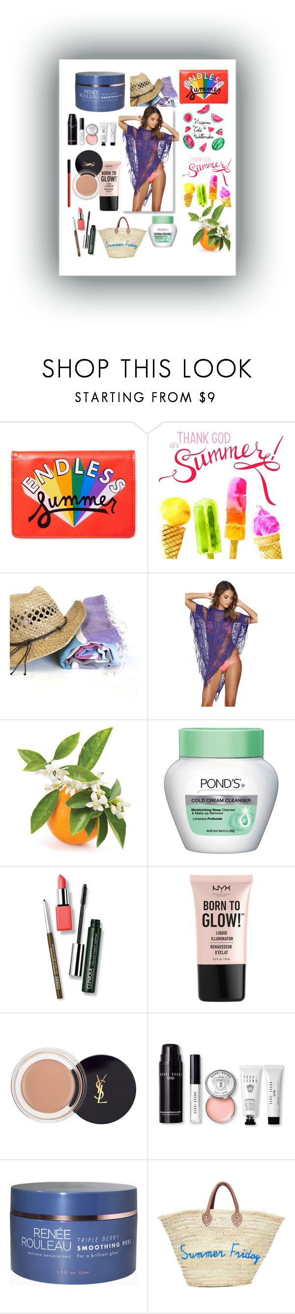 """summer summer summer"" by miamorjensin on Polyvore featuring ban.do, Beach Bunny, Clinique, NYX and Bobbi Brown Cosmetics"