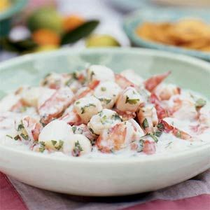 Shrimp and Scallop Ceviche with coconut milk and lime! I HAVE made this once before and it's amazing!~V