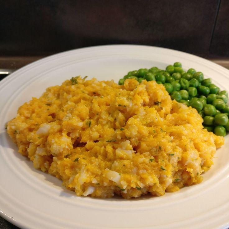Süßkartoffel-Blumenkohl-Stampf // Sweet Potato Cauliflower Mash