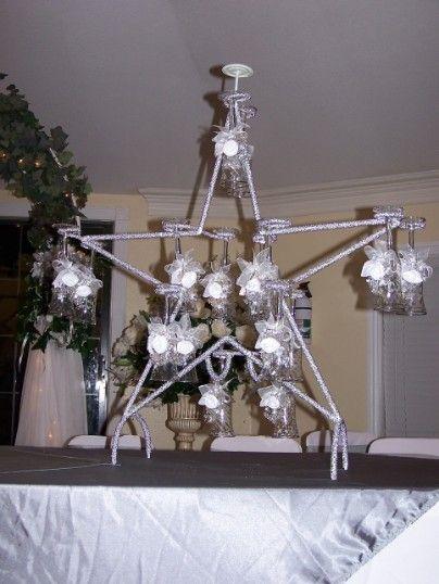 copas para brindis de quinceaneras decoradas | estrella para copas de brindis decoracion de mesa de honor