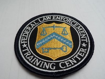 RARE POLICE FEDERAL LAW ENFORCEMENT TRAINING CENTER (FLETC) EMBROIDERED PATCH