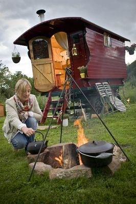 Drybeck Farm - England, UK | #glamping Drybeck Farm lies in the heart of Eden Valley, Cumbria. They offer luxury outdoor Lake District holiday accommodations for families, couples, groups and individuals within Mongolian #yurts and a gypsy #caravan.