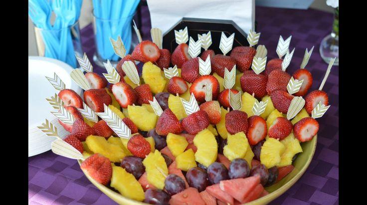 Arrow Fruit Kabobs Bohemian Native Themed Baby Shower