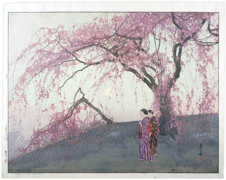 Kumoi Cherry Trees by Yoshida Hiroshi / 雲井櫻 吉田博