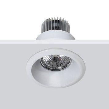 TAK Bestyle redondo blanco. Aplique para empotrar que permite alojar una bombilla GU10 o PAR16 de Ø50mm de diámetro: Amazon.es: Iluminación