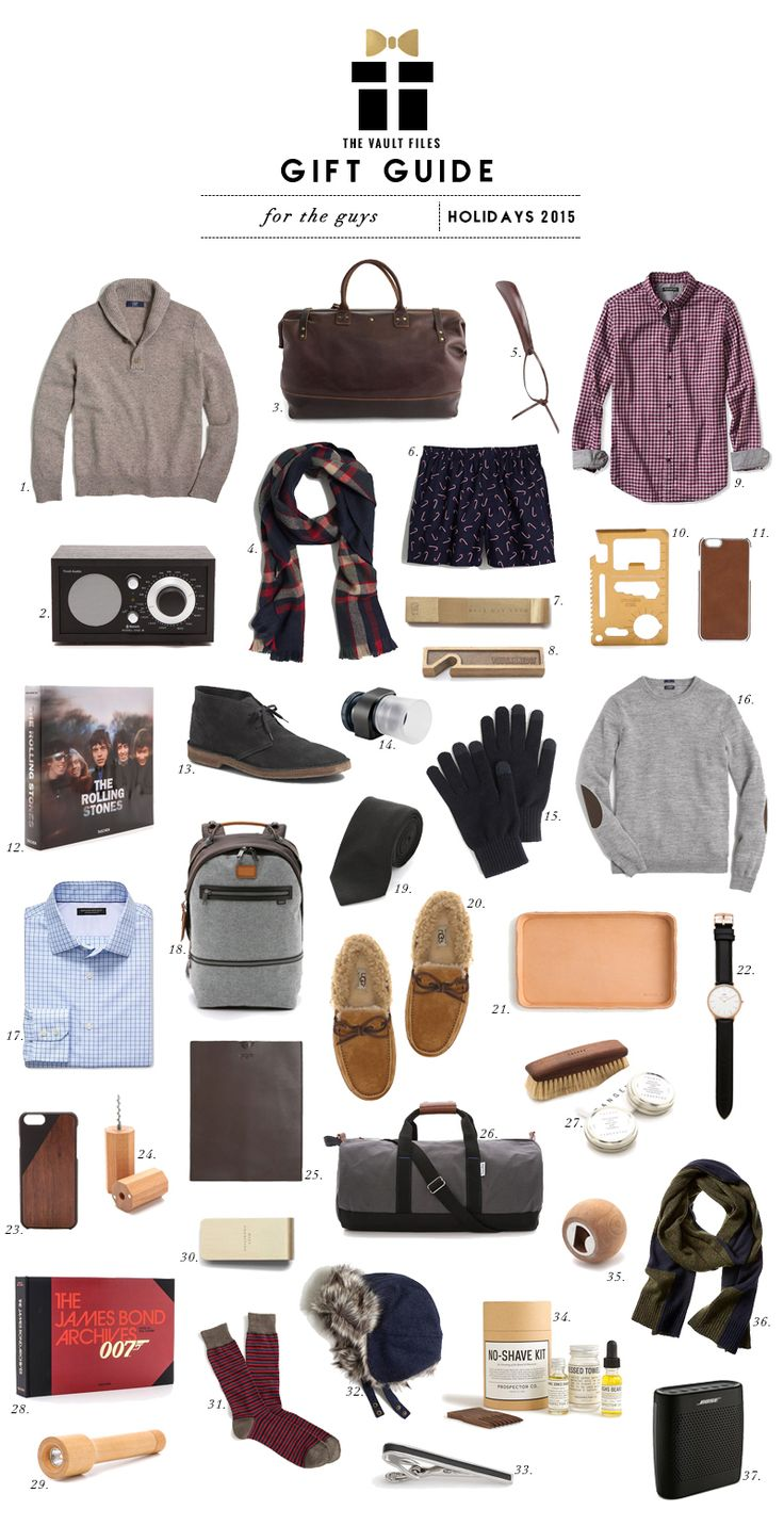 THE VAULT FILES: Shopping File: Holiday Gift Guide - For the Guys