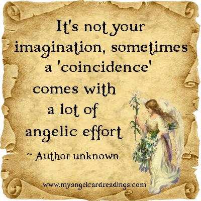 """i do not believe in """"coincidence""""....Ask your Angels for guidance...x"""