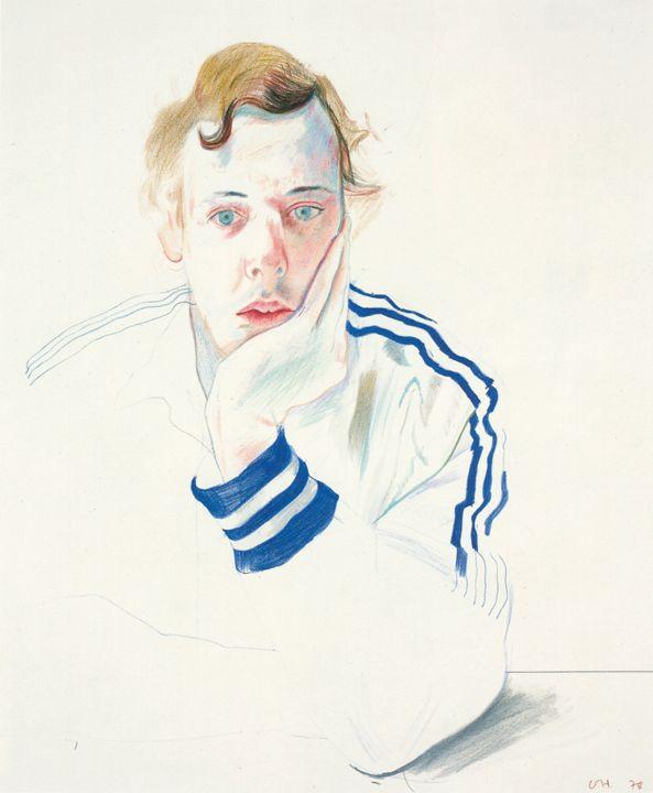 Музей рисунка - David Hockney (род. 1937г). Портрет