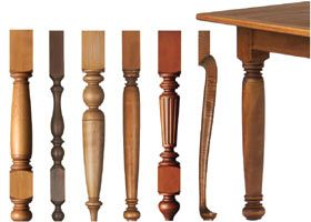 replace your table legs for more modern look? - Dining Table Legs - Unfinished Wood Table Legs 29 Inch Height.