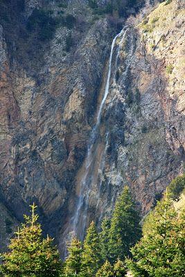 100m waterfall, Desi, south Pindus, Greece