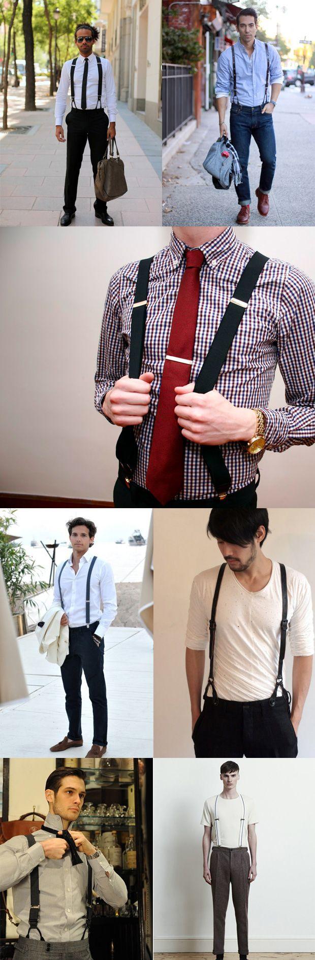 Mens Braces / Suspenders Lookbook