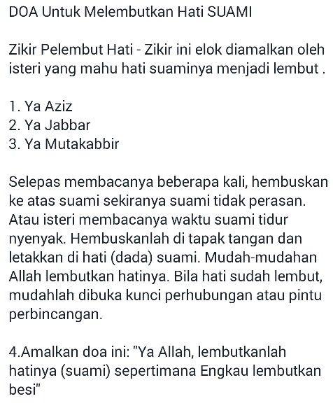 Doa untuk Melembutkan Hati Suami