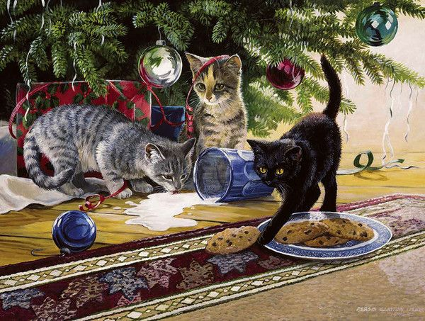 Persis Clayton Weirs - Christmas Cats