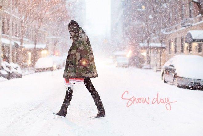 Snow Day - Au cas où vous vous demandiez comment c'est dans la rue quand la météo attaque à New York, voici la réponse... Je suis à Salt Lake City depuis deux jours (la ville des Jeux Olympiques d'hiver, vous vous souvenez ?) et il fait moins froid qu'à New York !!!  Les jours de neige, niveau mode,...