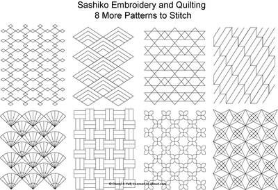 Japanese Sashiko Patterns: Usually done by hand but some designs are machine compatible.