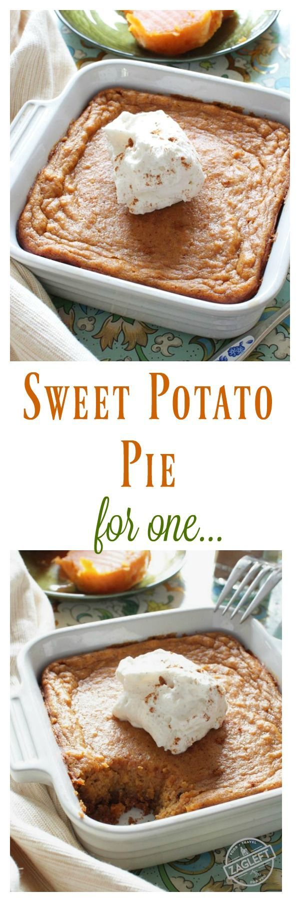 Sweet Potato Pie For One – This popular Southern dessert starts with a buttery graham cracker crust and is filled with perfectly spiced sweet potato custard. Top this tasty pie with a spoonful of mapl (Sweet Recipes For One)