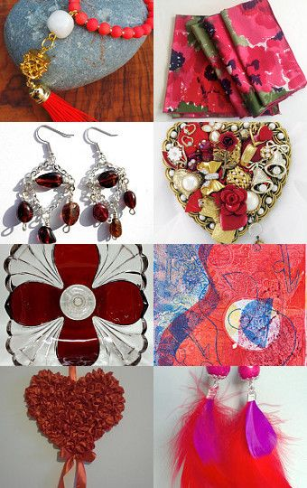 #Red #Treasury #Monday 4.13.15 #Finds by TresJolieJewels on #Etsy #handmade #jewelry #crafts #art #earrings #necklace #decor #etsyaaa