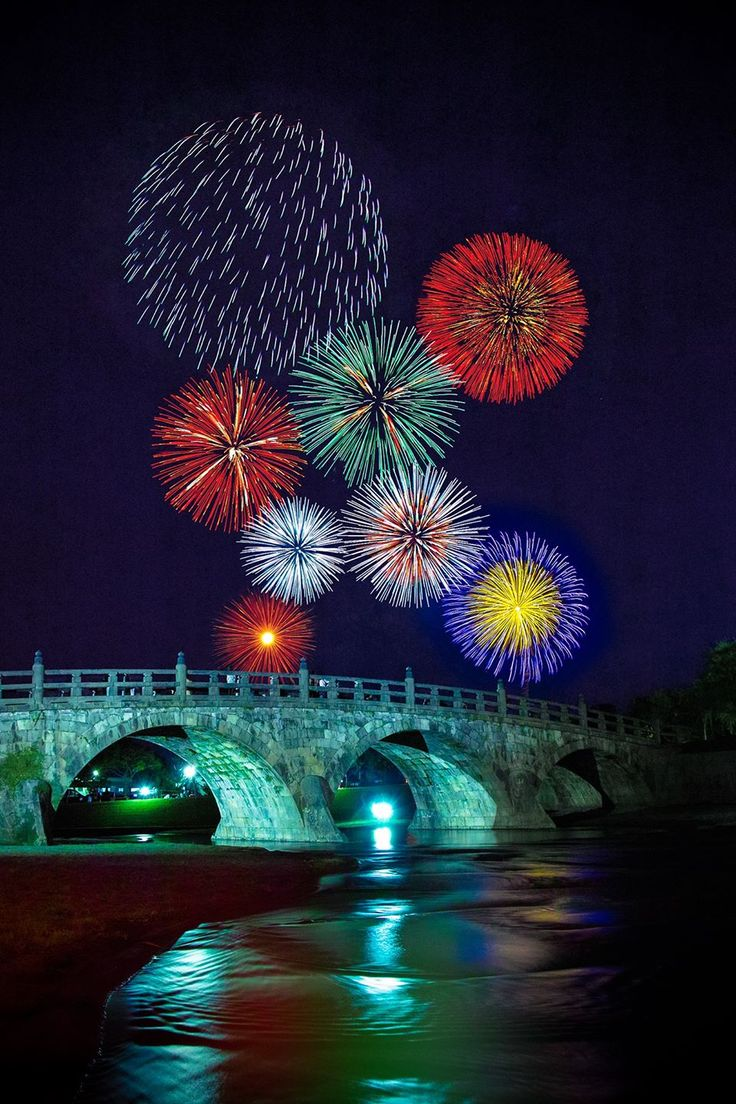 Bridge with fireworks, like a burst of new energy of different colors. The closer you look the rays could have the names of the 部署 Idea, brightens up even the darkest of skies with a big bang