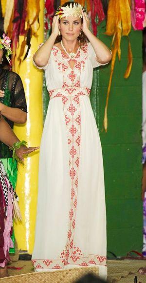 km-dofc:    Kate Middleton in Tuvalu on Day 8 of the 2012 Southeast Asia Royal Tour, September 18, 2012: Maxi Dresses, Grass Skirt, Duchess Of Cambridge, Catherine Middleton, Temperley Dresses, Duchess Catherine, Royals Tours, Kate Middleton, Duchess Kate