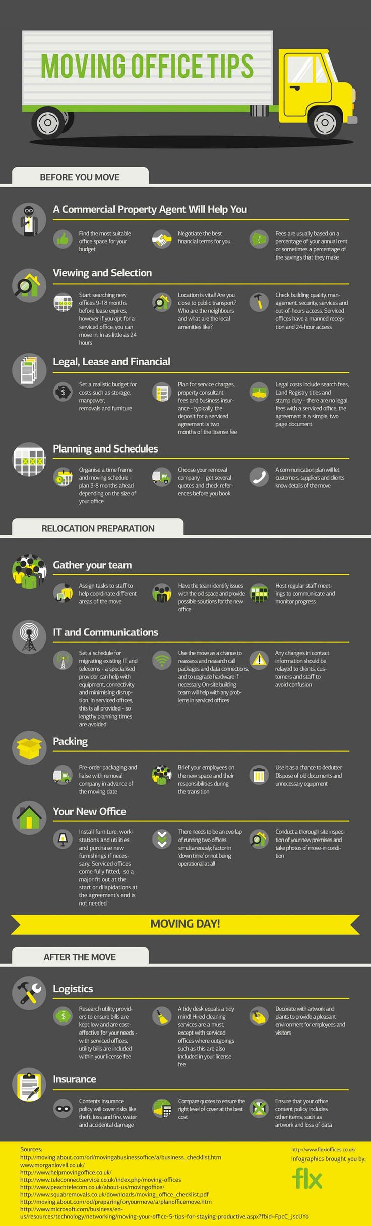 Infographic: Moving Offices Checklist