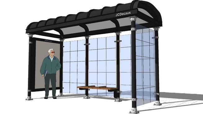 Chicago Bus shelter. JCDecaux - 3D Warehouse