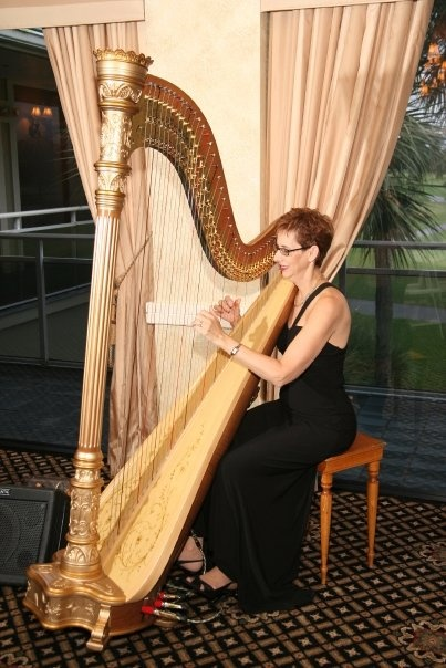 Florida Harpist Esther Underhay Performs For Wedding Tail Hour Breakerswest Palm Beach Gardens