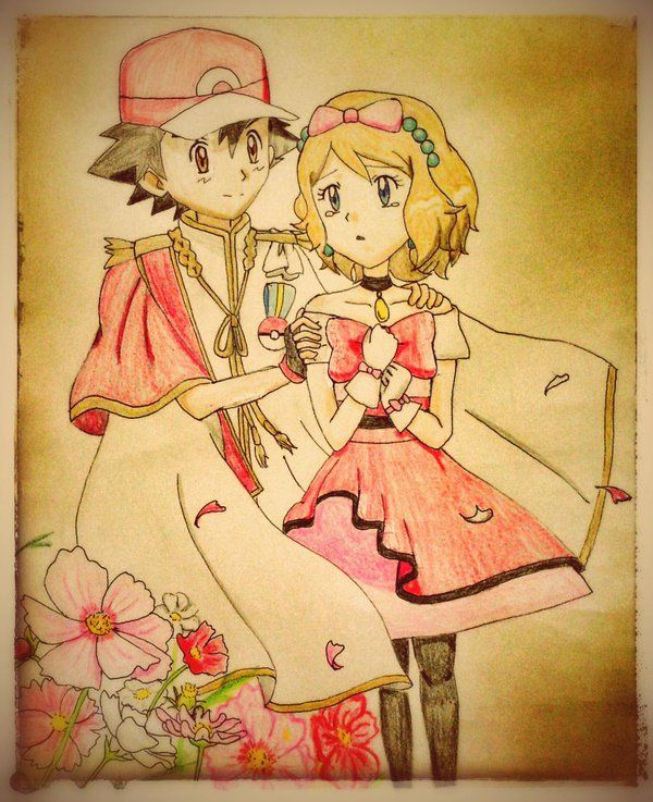 Beautiful <3 Amourshipping ^.^ <3 I give good credit to whoever made this <3 I found this in https://twitter.com/cK_lightweight/status/682564860182458369