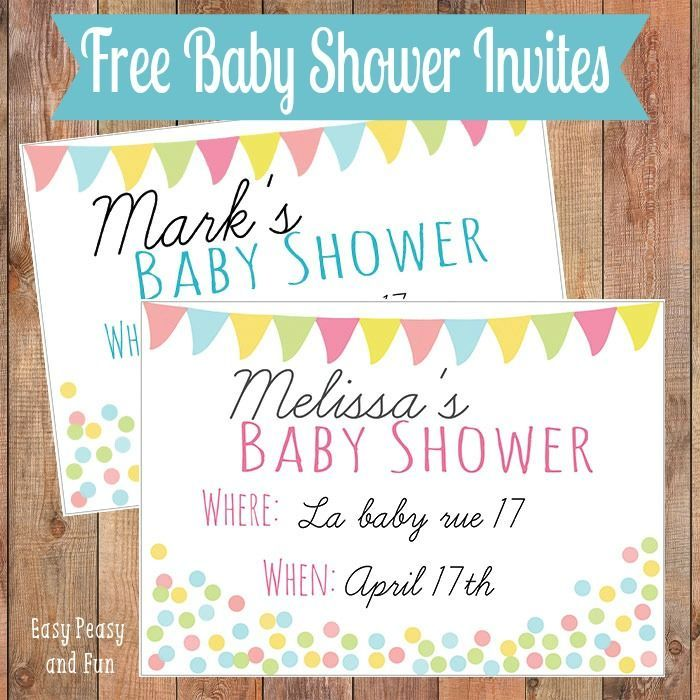 17 Free (and Adorable!) Printable Baby Shower Invitations: Free Baby Shower Invitations from Easy Peasy and Fun