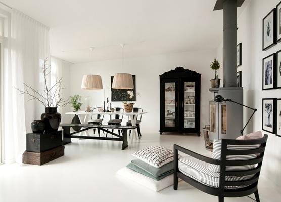 .: Interior Design, Decor, Inspiration, Black And White, Livingroom, Interiors, Living Room