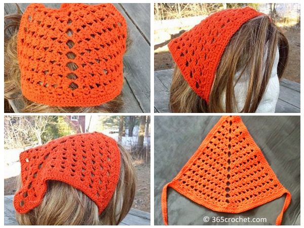 Tri-Shell Hair Kerchief