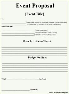 Download free Event Proposal Template