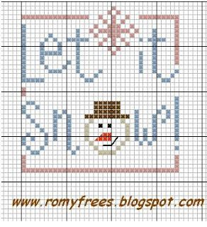 Let it Snow Cross Stitch by Romy's Creations