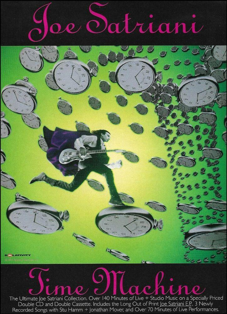 Joe Satriani 1994 Time Machine Ad 8 X 11 Advertisement Print In 2020 Joe Satriani Time Machine Movie Hot Tub Time Machine