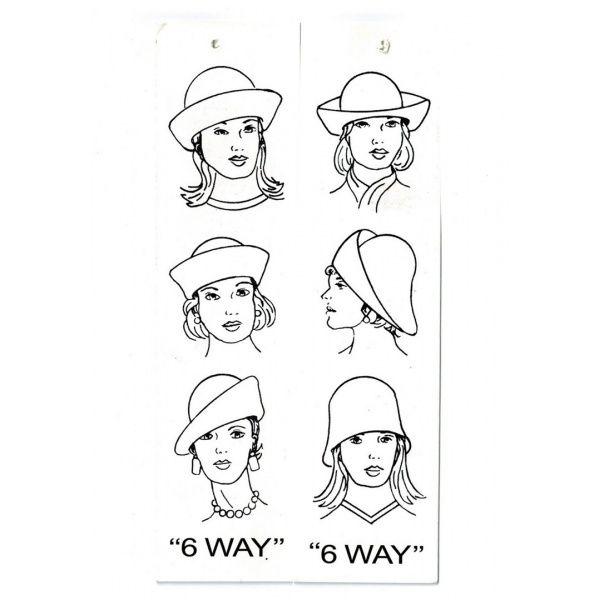 6 façons de porter un chapeau cloche en feutre de laine - Disponible sur www.chapellerie-traclet.com Modèle Scala