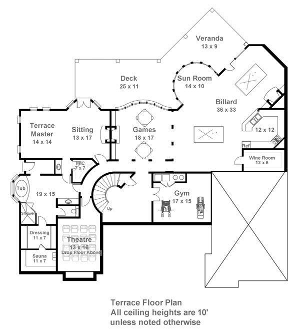 Plan HHF 1837 Terrace Floor