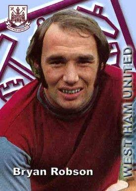 Bryan Robson of West Ham in 1973.