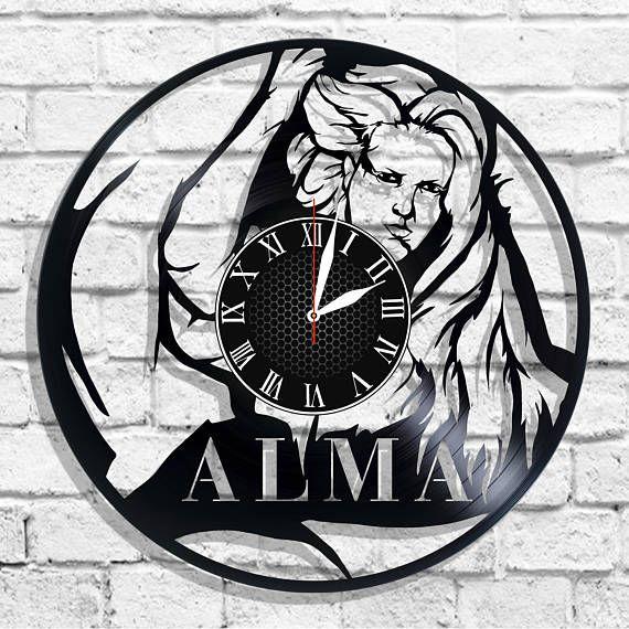 Alma singer design wall clock Alma wall poster