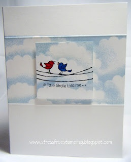 www.stressfreestamping.blogspot.com: Sky Cards, Stress Fre Stamps, Cardsstampi Stuff, Creative Cards, Stressfr Stamps, Cloud, Paper Crafts, Birds, Oz Cards